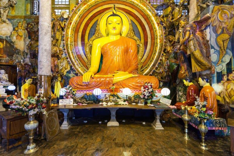 Gangaramaya寺庙在科伦坡 图库摄影