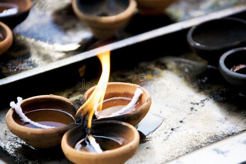Gangaramaya Tempel-Gebet-Zubringer stockfotografie