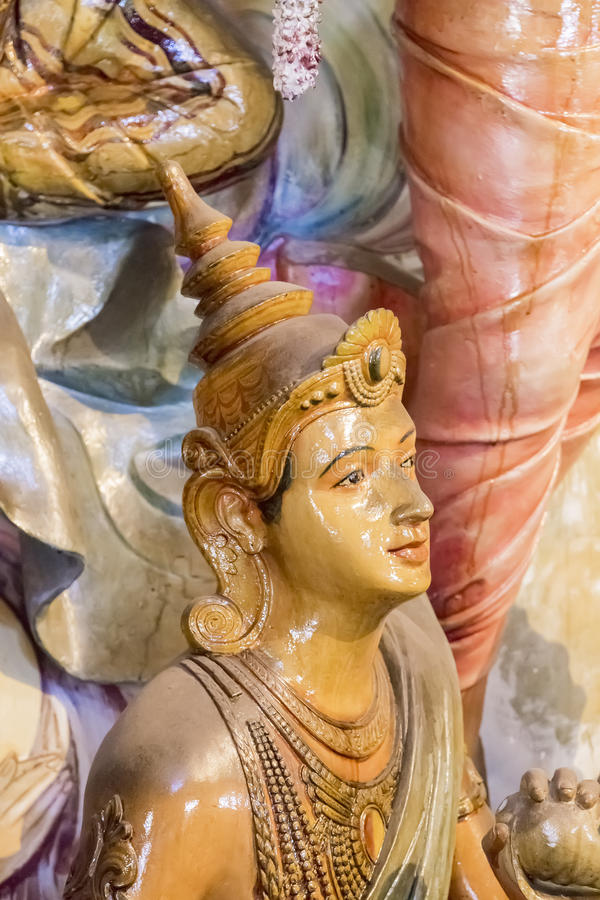 Gangaramayatempel in Colombo, Sri Lanka royalty-vrije stock afbeelding