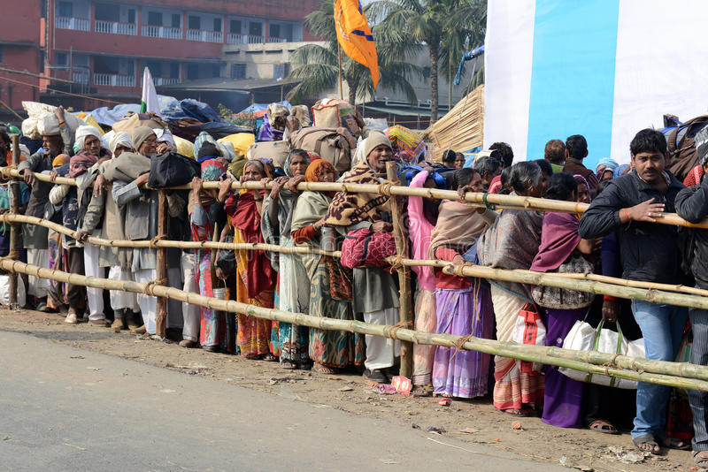 Gangasagar festival royaltyfria bilder