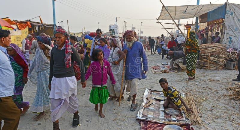 Gangasagar festival royaltyfria foton