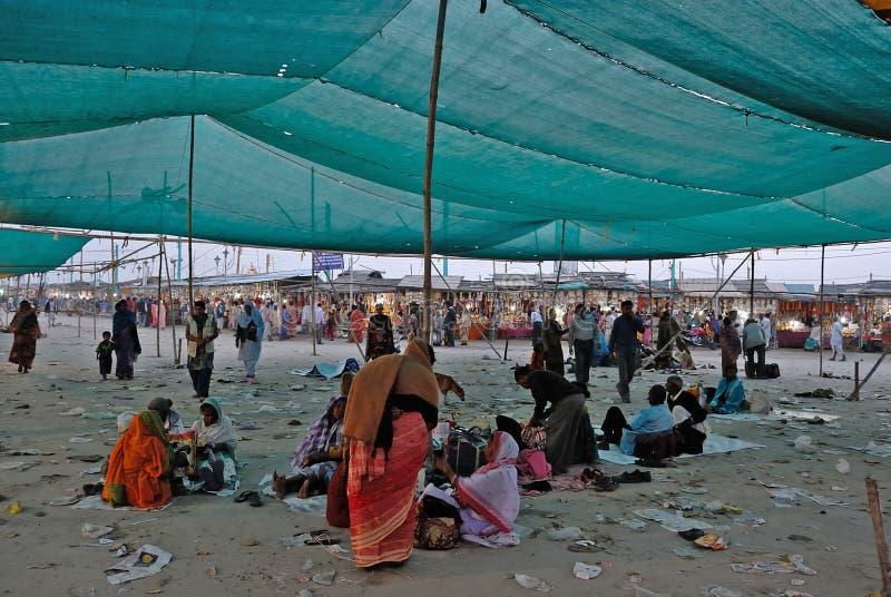 Gangasagar festival arkivbilder