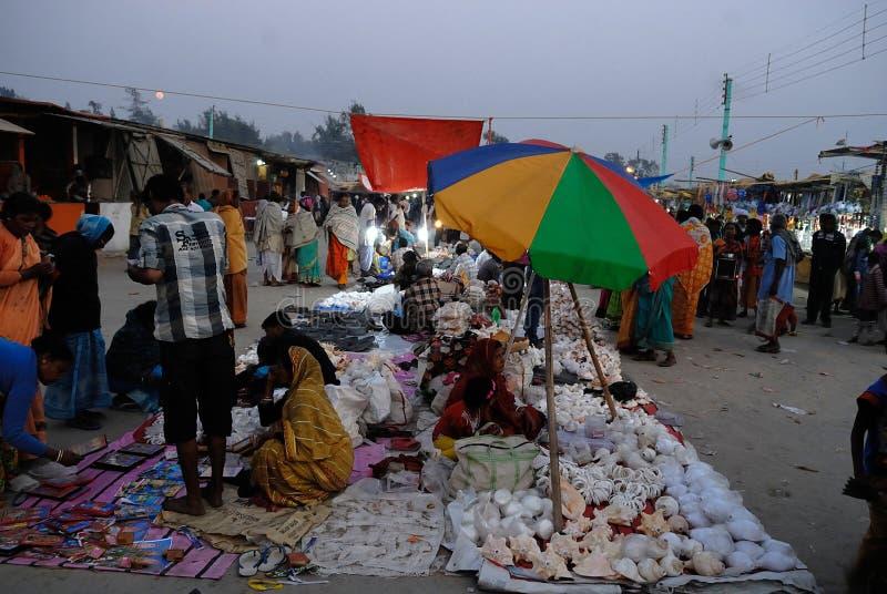 Gangasagar festival arkivbild