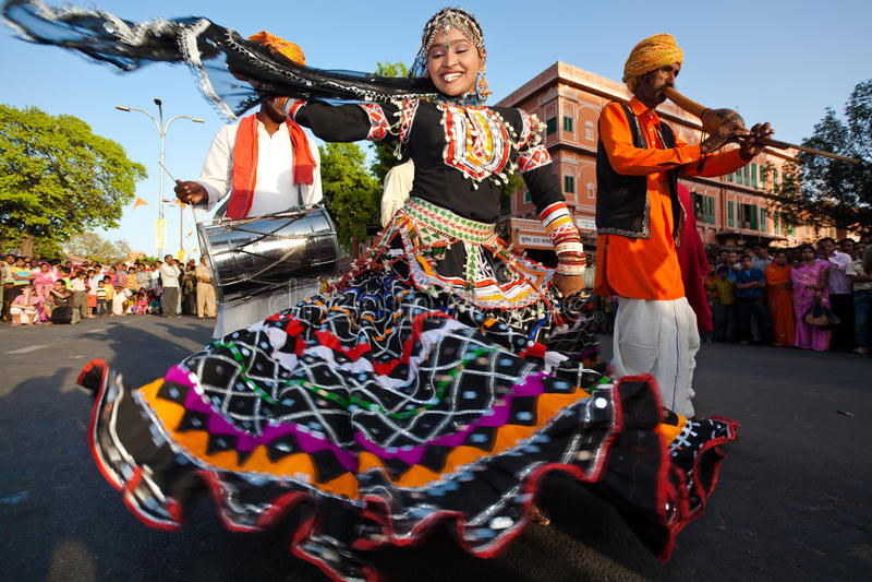 Gangaur Festival-Jaipur foto de stock