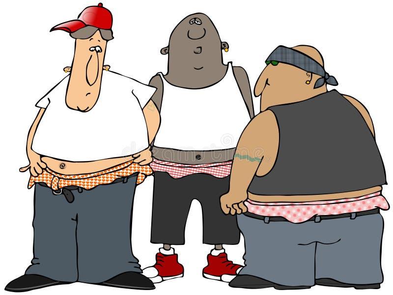 Gangbangers illustration libre de droits