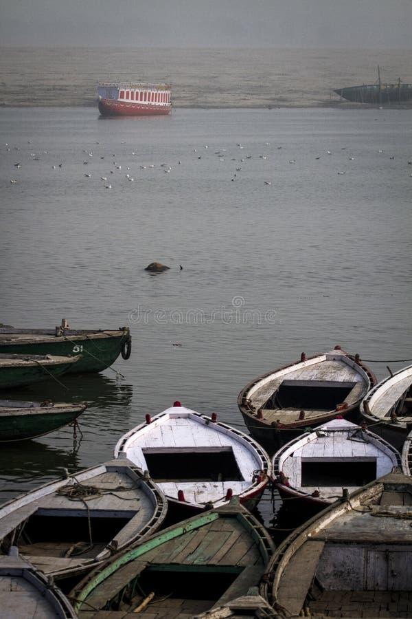 Gange индийское самое святое река стоковая фотография
