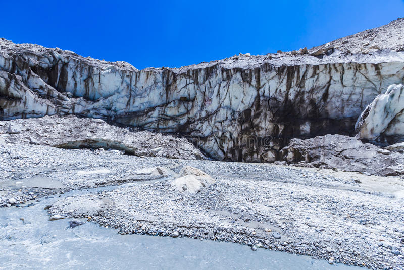 Ganges glaciär royaltyfria bilder