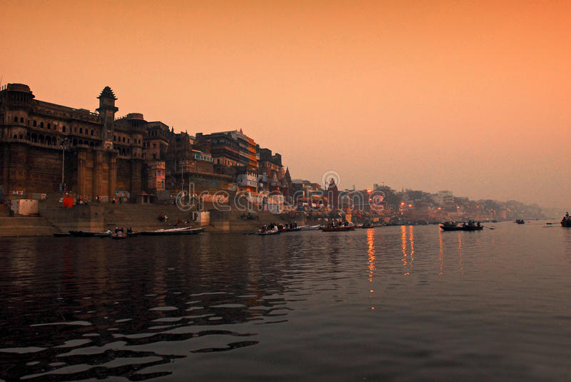 Download The Ganges river.India editorial photo. Image of orange - 21805316