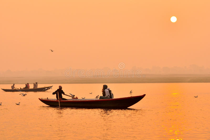 Download The Ganges River At Sunset,India Editorial Image - Image of wash, india: 19473395