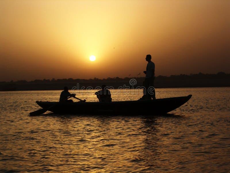 ganges słońca zdjęcia stock