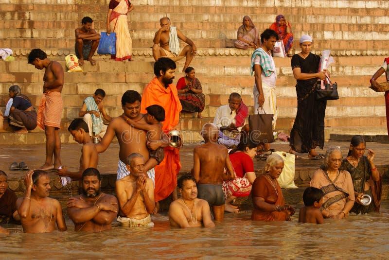 Ganges Varanasi Redaktionell Fotografering för Bildbyråer