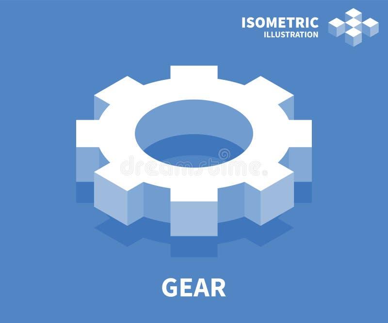 Gangikone Isometrische Schablone für Webdesign in der flachen Art 3D Auch im corel abgehobenen Betrag vektor abbildung