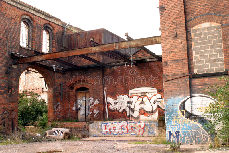 Gangland Industriale Immagine Stock
