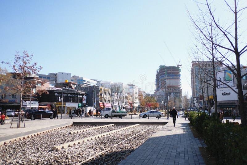 Gangmanier in hongdae Korea royalty-vrije stock fotografie