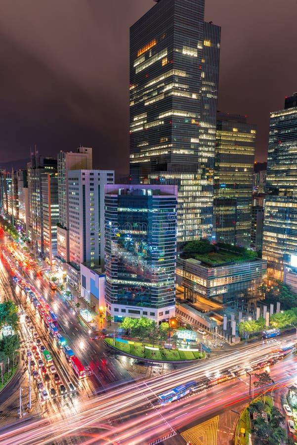 Gangnam ruch drogowy obrazy stock