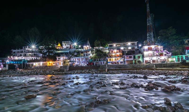 Gangotri στις νύχτες - ποταμός ganga στοκ φωτογραφία με δικαίωμα ελεύθερης χρήσης