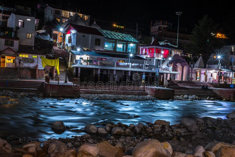 Gangotri in nights royalty free stock image