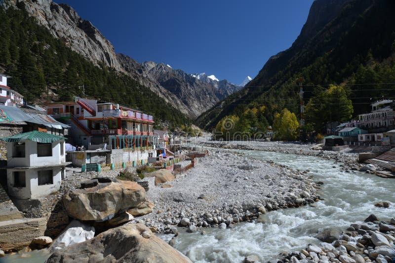 Gangotri, Uttarakhand, India. River Ganges, Himalayas royalty free stock photo