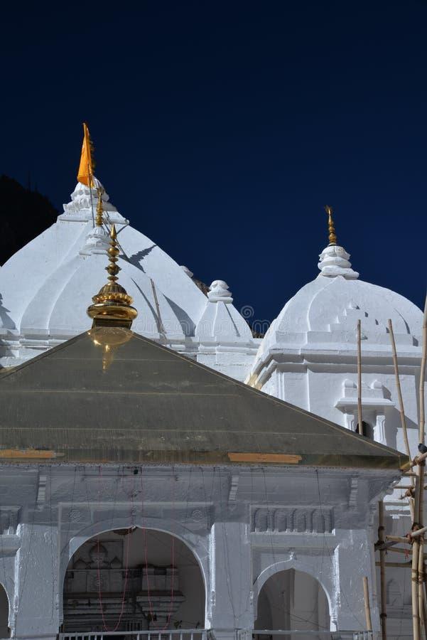 Gangotri, Uttarakhand, Indien Der Haupttempel lizenzfreie stockfotografie
