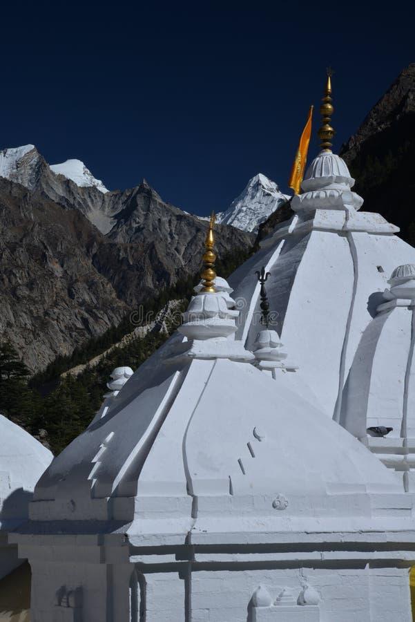 Gangotri, Uttarakhand, Indien Der Haupttempel stockbild