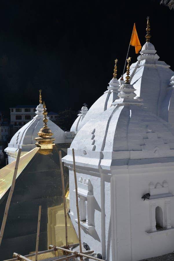 Gangotri, Uttarakhand, Indien Der Haupttempel stockfotos