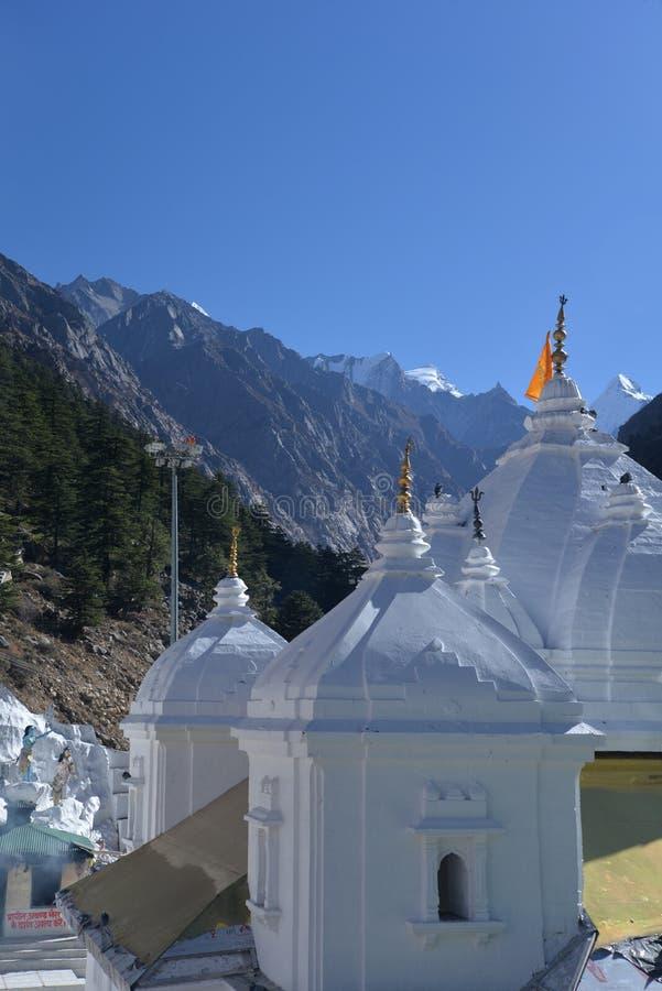 Gangotri, Uttarakhand, Indien Der Haupttempel stockbilder