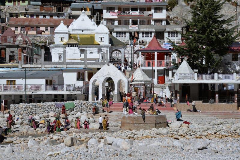 Gangotri, Uttarakhand, Indien Fluss Ganges in Indien lizenzfreies stockfoto
