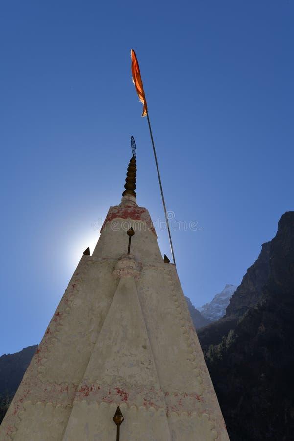 Gangotri, Uttarakhand, Indien Hinduistischer Tempel stockfotos