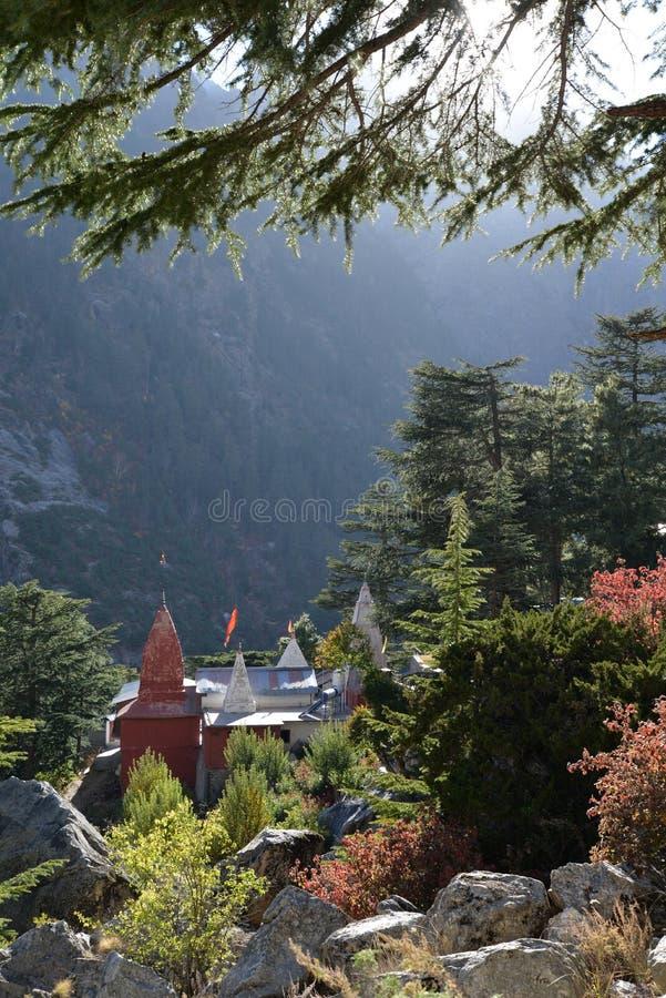 Gangotri, Uttarakhand, Indien Hinduistischer Tempel stockbilder