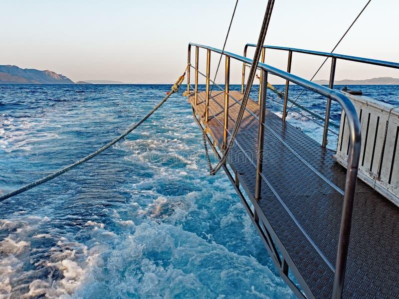 Gangplank, prom przy morzem fotografia royalty free