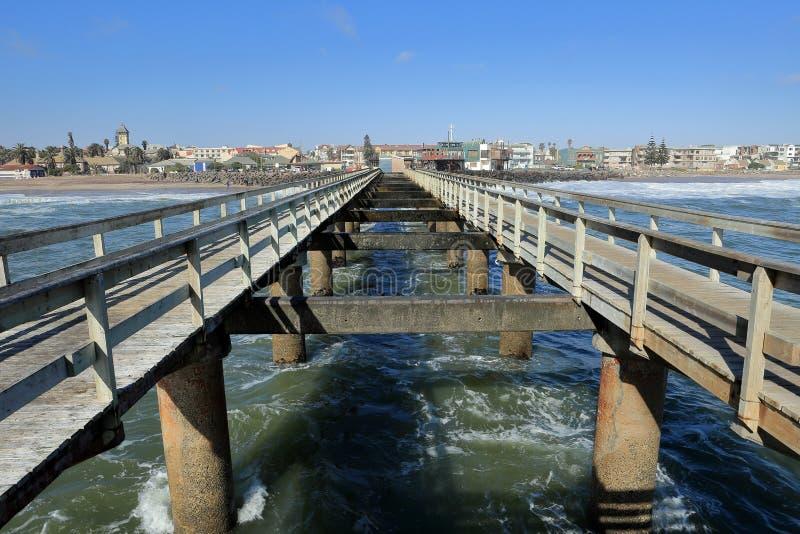 Gangplank Swakopmund obrazy royalty free