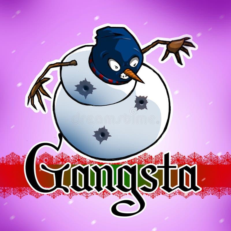 Gangsta雪人 库存照片