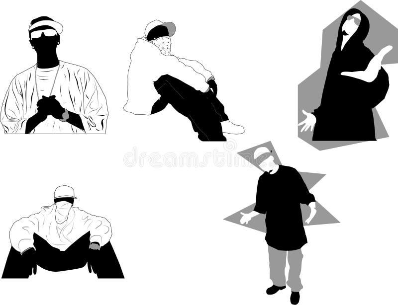 Gangsta royalty illustrazione gratis
