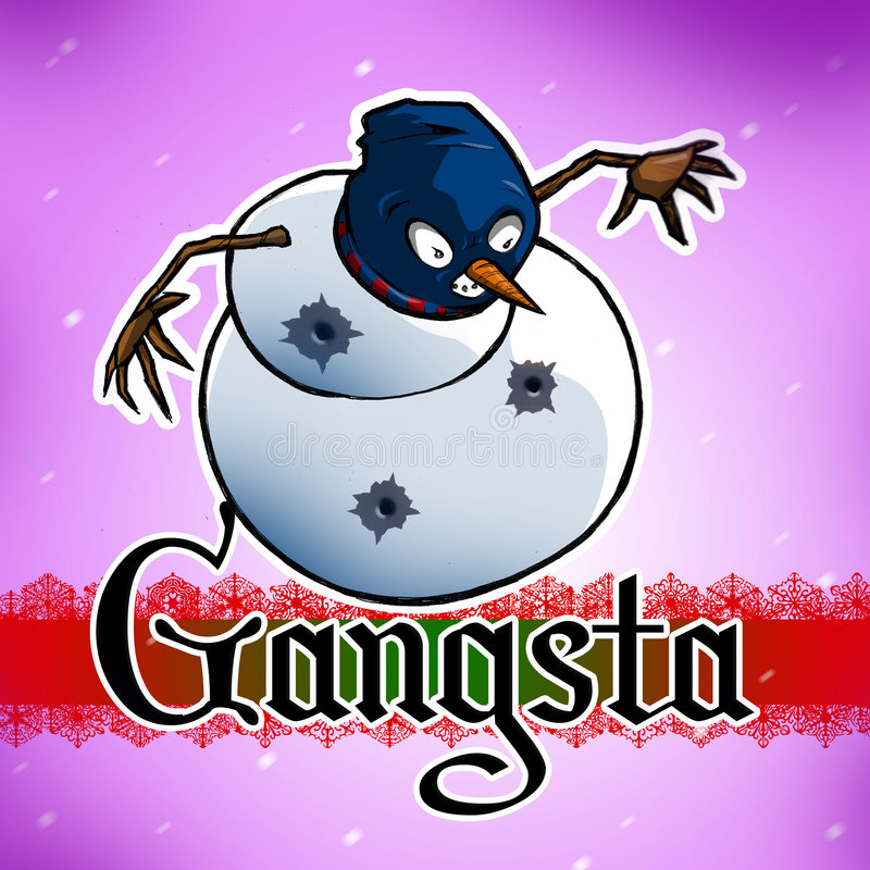 Download Gangsta Snowman stock illustration. Illustration of urban - 1542313