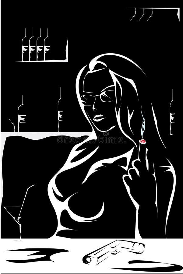 gangstaflicka vektor illustrationer