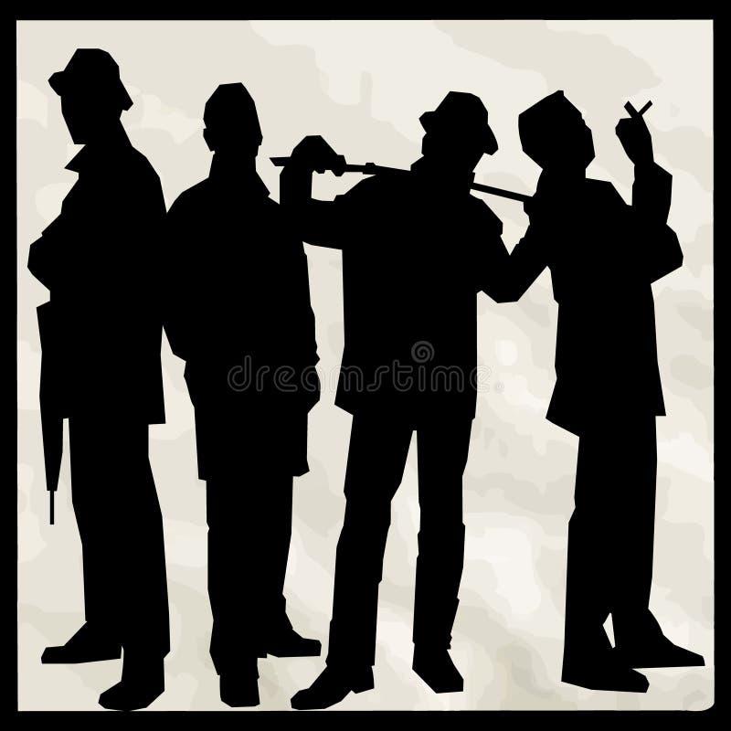 Gangster 5 vector illustratie