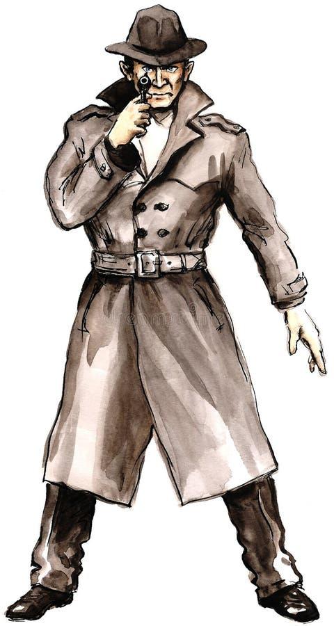 Gangster_30 royalty ilustracja