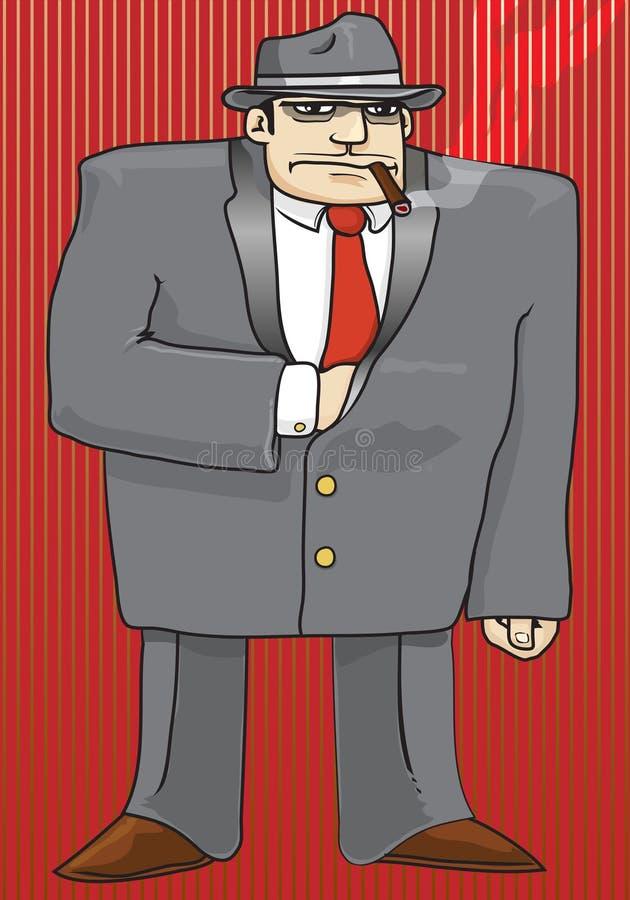 Download Gangster stock vector. Image of mobster, illustration - 7217218