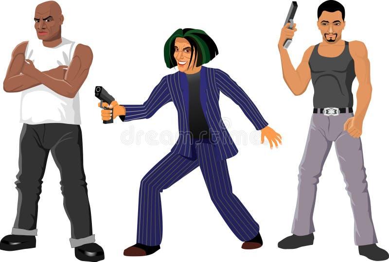 gangster royaltyfri illustrationer