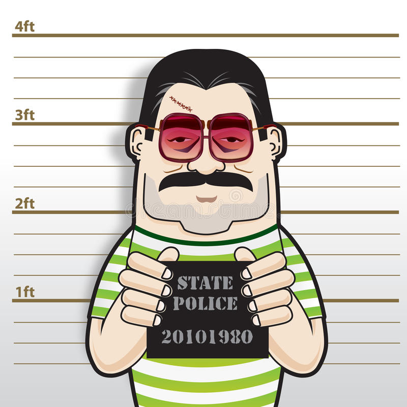 Download Gangster Boss Busted stock illustration. Image of prison - 19766264