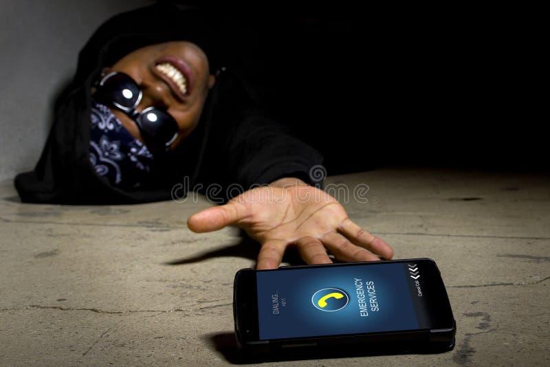 Gangster die Hulp verzoeken stock foto's