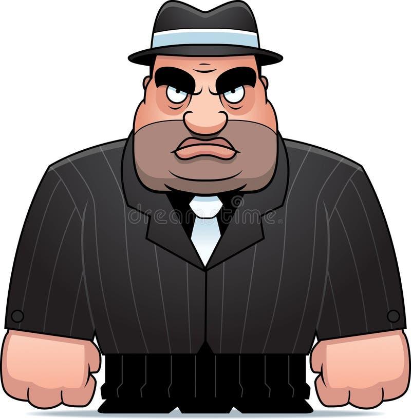 Gangster dos desenhos animados ilustração stock