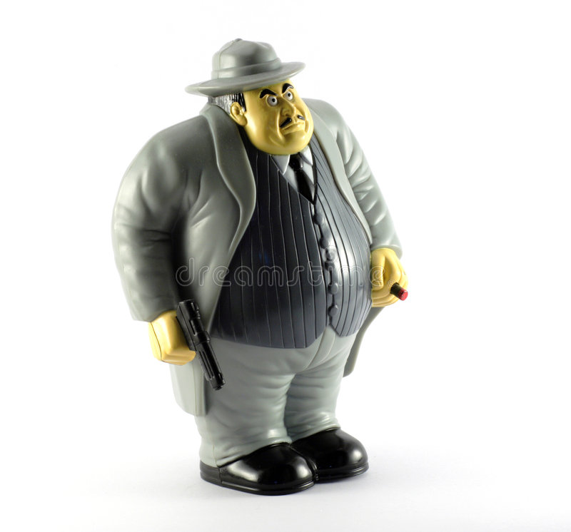 Gangster Figure Stock Photography