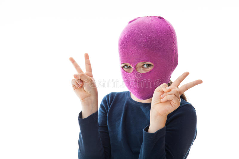 Download Gangster Girl Giving Victory Sign Stock Photo - Image: 32904630