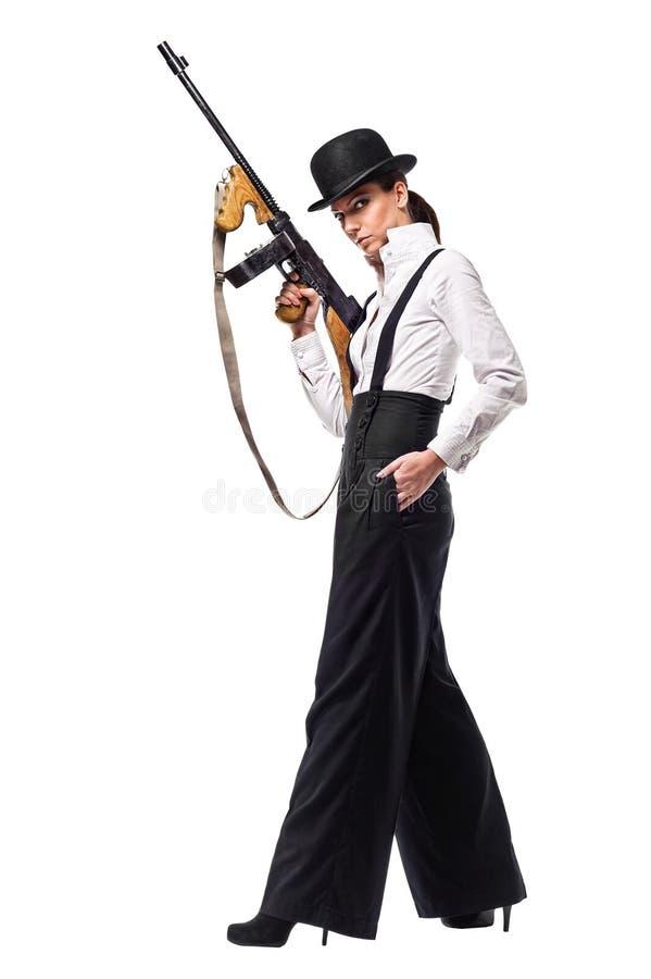 Download Gangster Girl Holding Thompson Machine Gun. Stock Photo - Image: 26974442