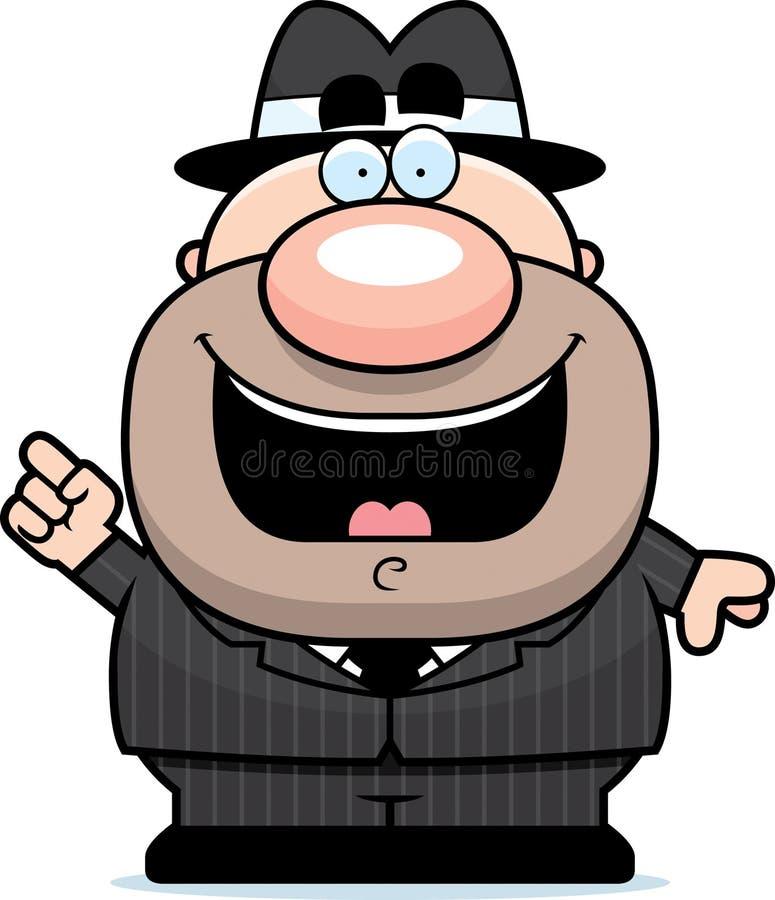 Gangster Idea dos desenhos animados ilustração royalty free