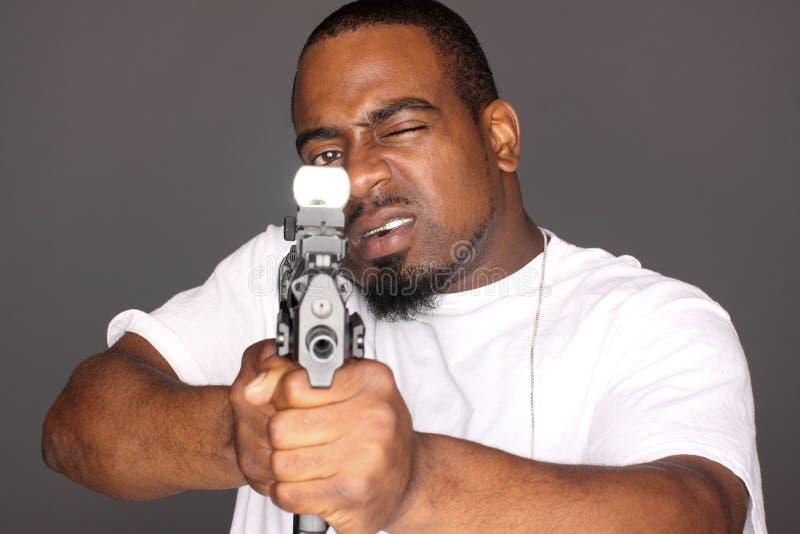 Gangster met kanon royalty-vrije stock foto's