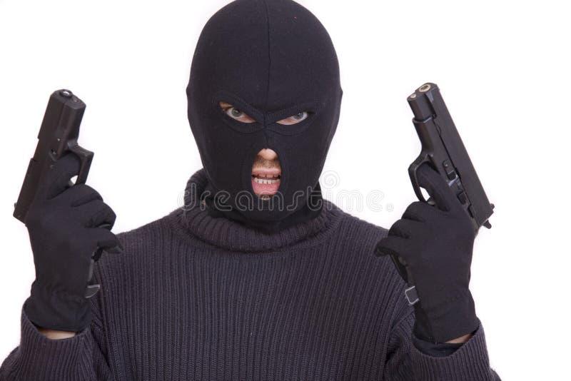 Gangster mit Gewehren lizenzfreie stockbilder