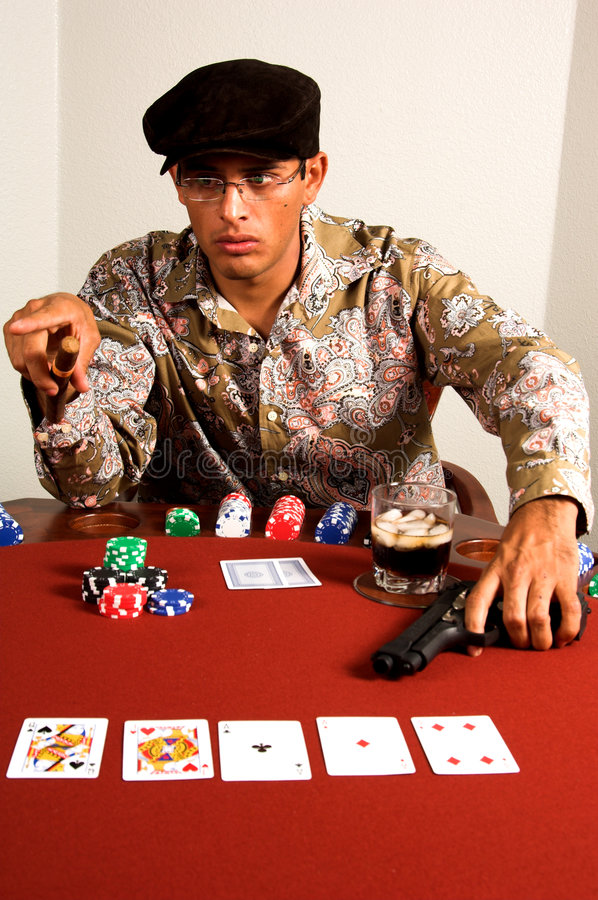 Gangster Poker royalty free stock photo