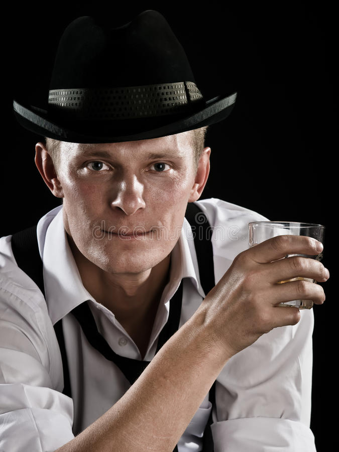 Gangster is relaxing stock photography